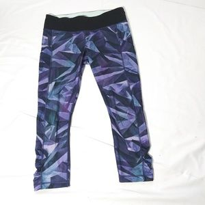 Lululemon Pretty Prism Speed Crop Tights Sz 10